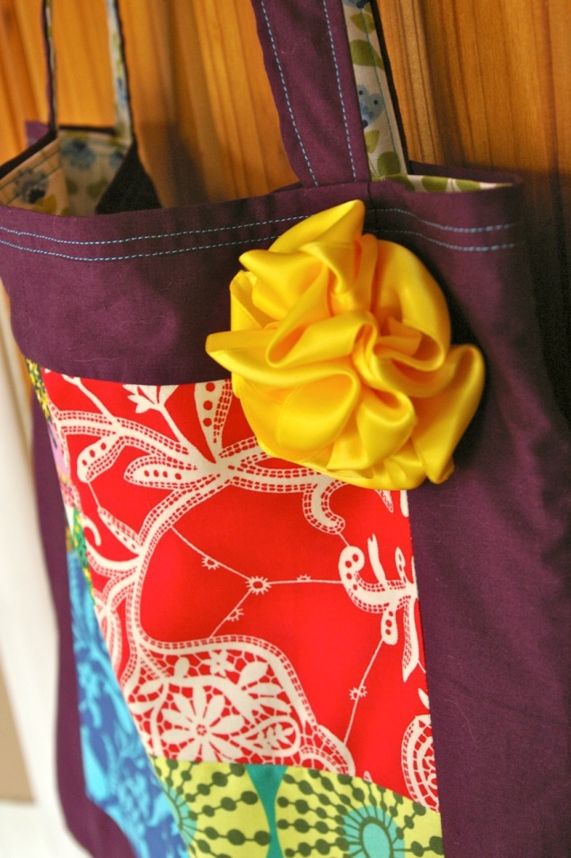 patchwork bag detail