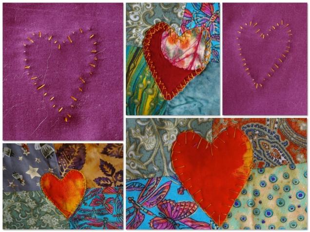 vibrant quilt detail