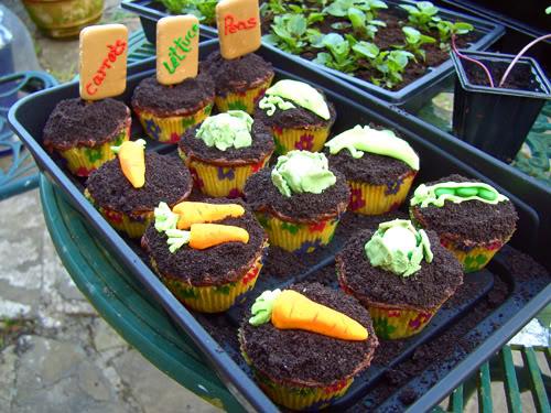 garden cup cakes