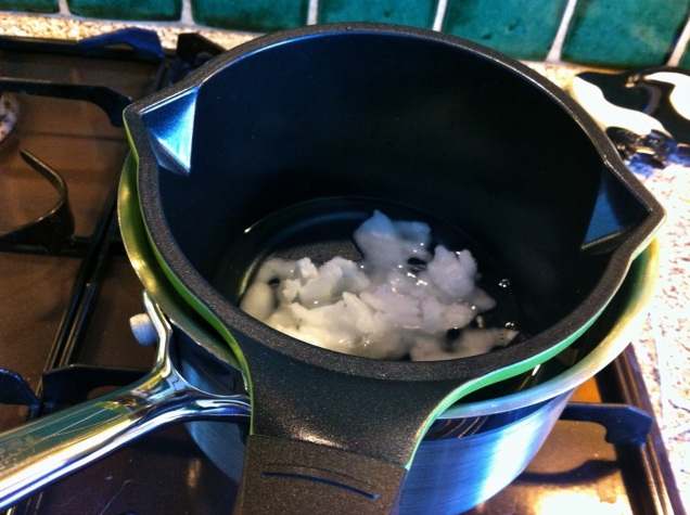 makeshift double-boiler