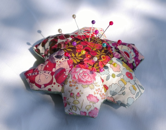 Liberty lawn granny's flower garden pincushion