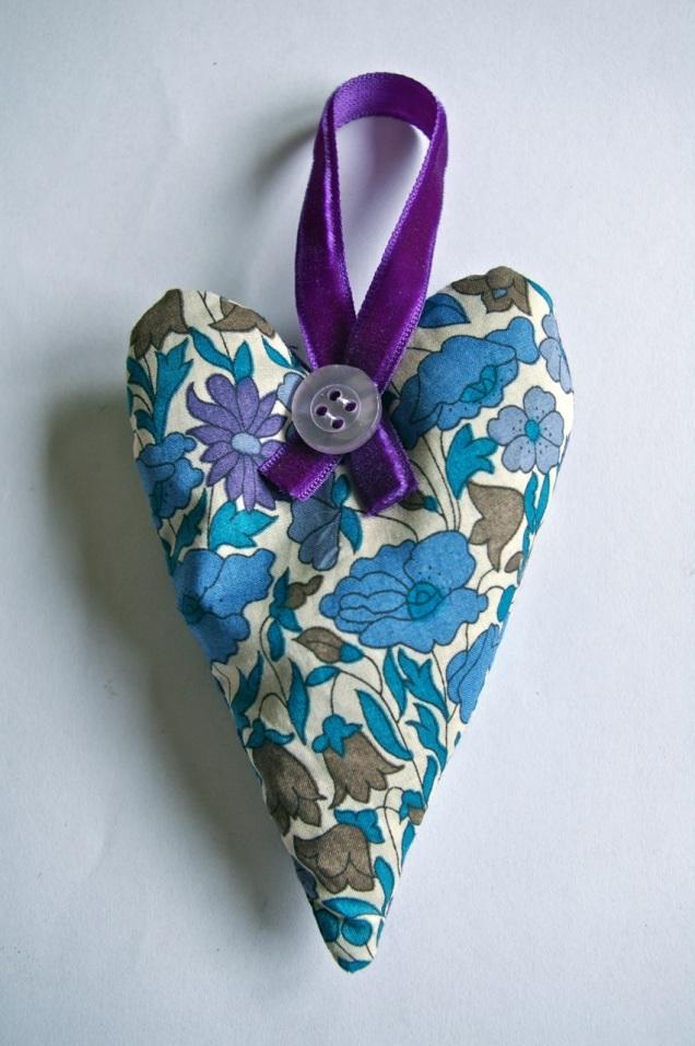 Liberty print lavender heart