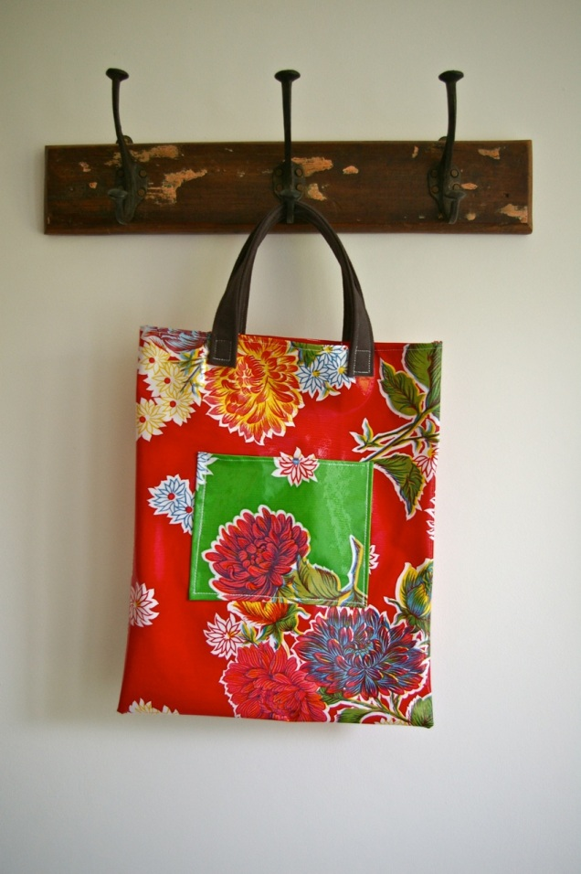 red and green Mexicana tote bag