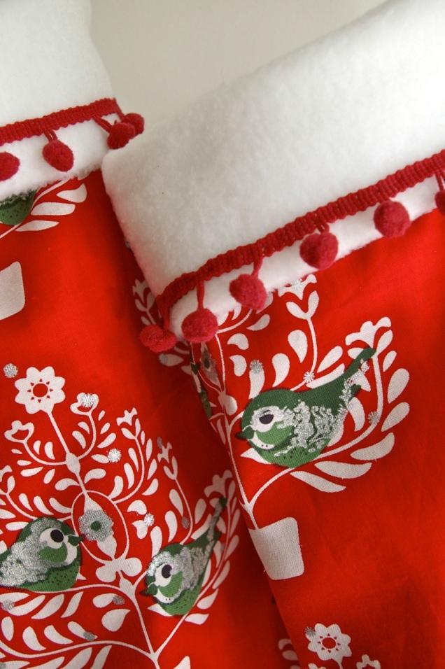 Skandi Christmas stocking detail