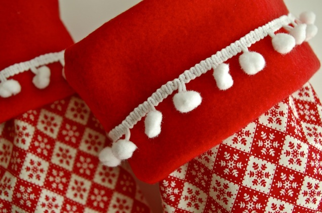 Skandi Christmas stocking detail