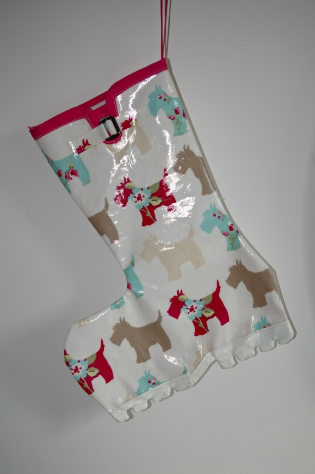 welly boot Christmas stocking