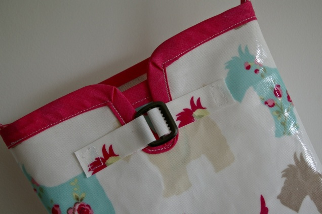 oilcloth welly Christmas stocking