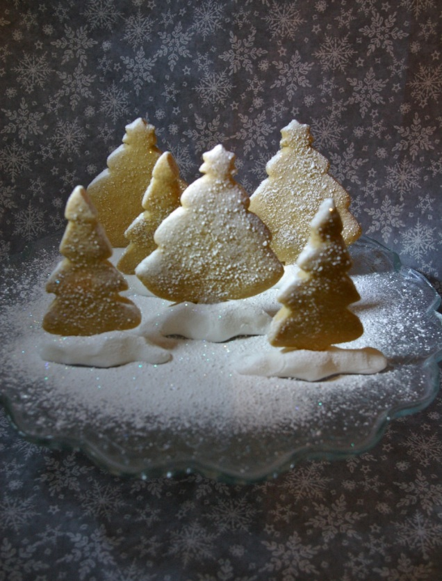 shortbread snow scene