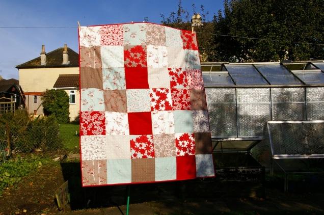 Deerey Me tied patchwork quilt