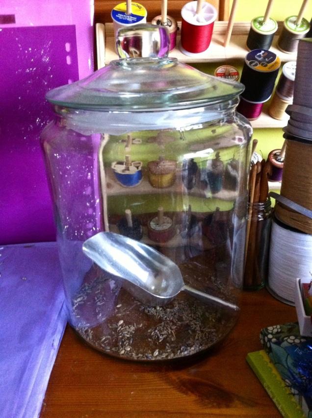 empty lavender jar