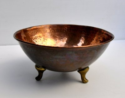 vintage copper bowl by Virtually Antique on Etsy.com