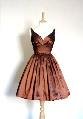 copper dress by Dig for Victory on Etsy.com
