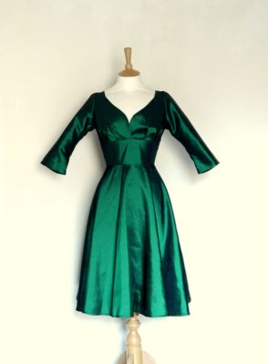 emerald dress by Dig for Victory on Etsy.com