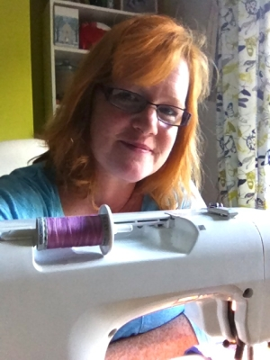 As the interview was by telephone I had to provide a photo...a selfie of me and my sewing machine.