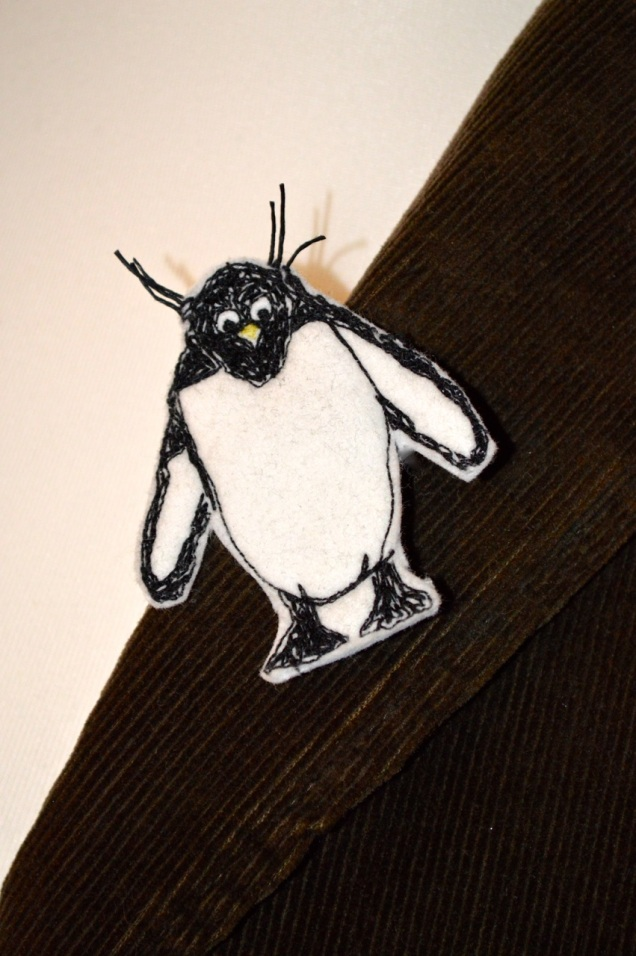 rock hopper penguin brooch