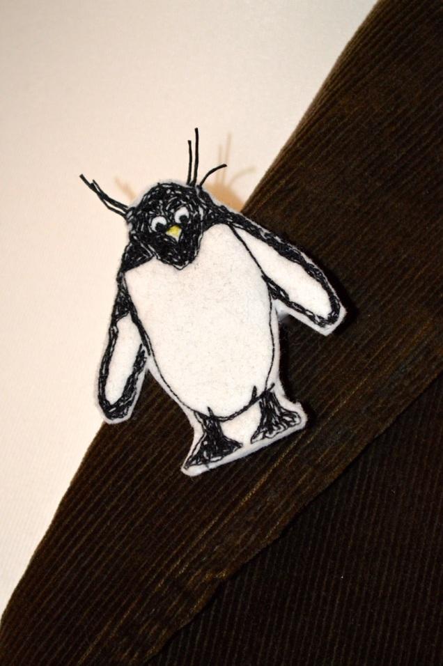 rock hopper penguin brooch