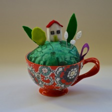 little felt house and garden